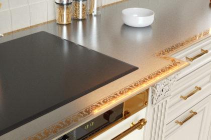 Металлическая столешница для кухни