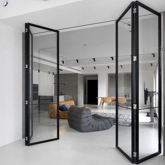 Металлические перегородки со стеклом